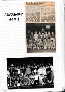 Coach david bonnel saint chamond basket benjamins 1983