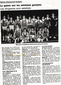 david bonnel minimes saint chamond basket article de presse